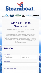 Steamboat – Ski Trip To Steamboat Sweepstakes