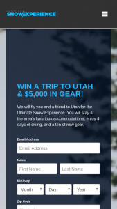 Summit Sports – Ultimate Snow Experience Contest – Win a trip for two to Park City