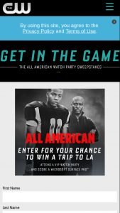 The CW Network – All American Watch Party – Win will be awarded