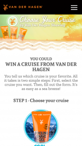 Universal Beauty Products – Van Der Hagen Cruise – Win a five (5) day