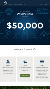 Usaa – Live Your Dreams – Win $50000 in the form of a check