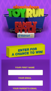 Viacom – Nickelodeon Toy Run Family Style At Walmart Sweepstakes