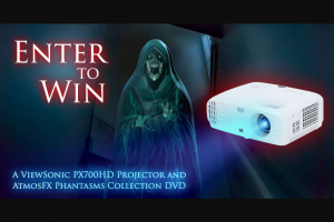 Viewsonic And Atmosfx – Halloween Spooky Spectacular Giveaway – Win One ViewSonic PX700HD Projector and one copy of AtmosFX Phantasms Collection valued at $539.98.