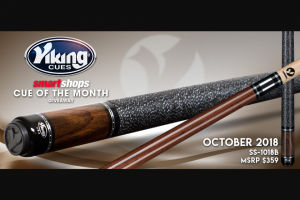Viking Cues – October Cue Giveaway Sweepstakes