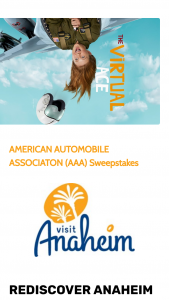 Visit Anaheim – American Automobile Association (aaa) Sweepstakes