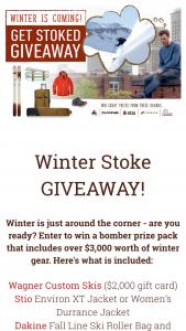 Wagner Custom – Winter Stoke Giveaway Sweepstakes