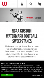 Wilson – Watermark Football Evolution Giveaway – Win Pack consists of four Wilson NCAA Watermark Footballs