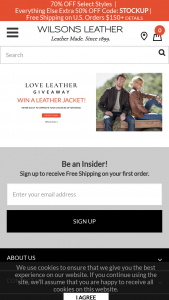 Wilsons Leather – Love Leather Giveaway – Win ONE WILSONS LEATHER JACKET