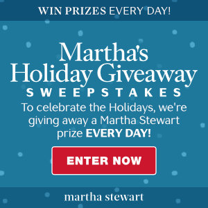 Martha Stewart – Holiday Giveaway – Win 1 of 37 daily prizes valued at up to $350