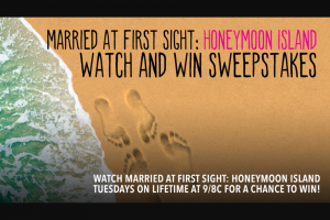 A&e Television Networks – Married At First Sight Honeymoon Island Watch And Win – Win A sponsor selected beach towel and tote bag