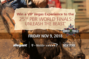 Allegiant – 25th Pbr World Finals Unleash The Beast – Win one carry-on bag and a pre-assigned seat at no charge