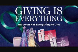 Avon – Giving Is Everything – Win Sleigh – Includes one of every prize item from weeks 1 through 7 (1) Total ARV of all prizes in Week 8 $2474.14 USD Total ARV of all prizes $4948.28USD