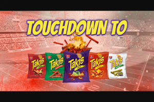 Barcel USA – Touchdown To Takis – Win tickets for a year awarded in the form of one $3000 Ticketmaster Gift Card