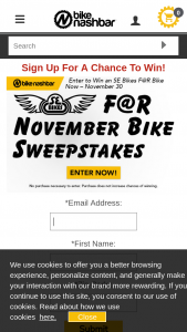 Bike Nashbar – November Giveaway – Win 15 SE F@R 26 Fat Bike – 2017 MSRP $1349.99 Total ARV of the prize is $1349.99.