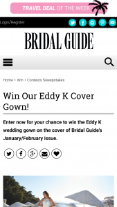 Bridal Guide – January/february Cover Gown Sweepstakes