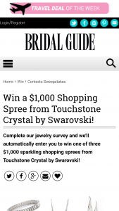 Bridal Guide – 2019 Jewelry Survey Sweepstakes
