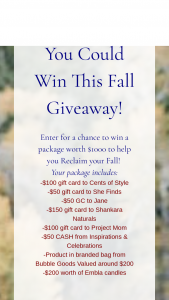 Cents Of Style – Reclaim Your Fall Giveaway Sweepstakes