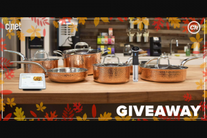 CNET – Chowhound Holiday Cooking – Win consists of one Google Home one Anova Precision Cooker 4.0 – WI-FI and one Lagostina Martellata Hammered Copper 10-Piece Cookware Set