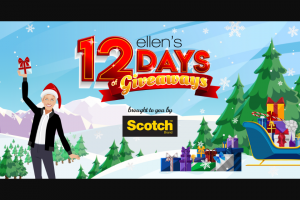 Ellen – 12 Days Of Previews – Win surprise nature of the giveaway the ERV may vary