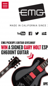 Emg Pickups – Gary Holt Guitar Giveaway Sweepstakes