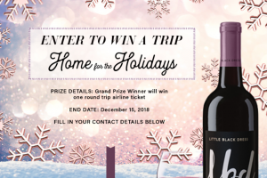 Fetzer Vineyards Little Black Dress Wines – Home For The Holidays – Win a check in the amount of $1000.00.