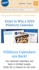 General Mills – Pillsbury 2018 Calendar Sweepstakes