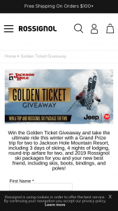 Jackson Hole – Golden Ticket Giveaway Sweepstakes