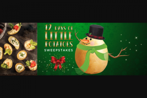Little Potato Company – 12 Days Of Little Potatoes Giveaway – Win one $5000 check awarded in the name of the winner