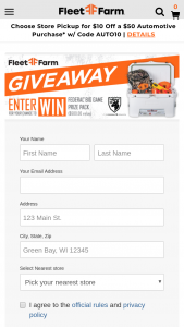 Mills Fleet Farm – Federal Hunting Giveaway Sweepstakes