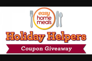 National Frozen & Refrigerated Foods Association – Holiday Helpers Coupon Giveaway Sweepstakes