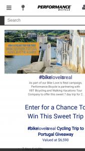 Performance Bicycle – #bikeloveisreal Cycling Trip To Portugal Sweepstakes