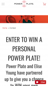 Performance Health Systems – Personal Power Plate – Win one Personal Power Plate ($1495 value).