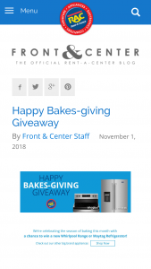 Rent-A-Center – Happy Bakes-Giving Giveaway – Win one (1) Maytag Stainless 20 Cu
