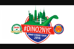 Sinclair Oil – Dino2nyc – Win four to New York City a hotel stay (1 room two double beds) for three nights and $1000 spending money during Thanksgiving week 2018.