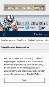 Sleep Number – Dallas Cowboys Sweepstakes
