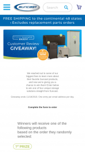 Suncast – Customer Review Giveaway Sweepstakes