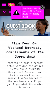 Tbs Turner Entertainment Networks – The Guest Book Sweepstakes
