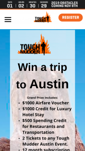 Tough Mudder – Win A Trip To Austin Sweepstakes