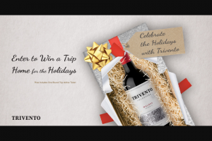 Trivento Wines – Home For The Holidays Giveaway Sweepstakes