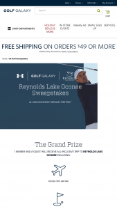 Under Armour & Golf Galaxy – Layer Up At Reynolds Lake Oconee – Win of an all-inclusive trip for two to Reynolds Lake Oconee on December 10-12.
