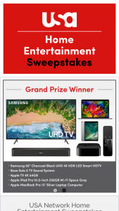 USA Networks – Home Entertainment – Win one Second Prize one Apple TV 4K