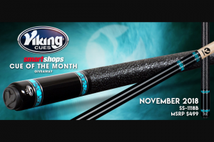 Viking Cue – Smartshops Cue Of The Month Giveaway Sweepstakes