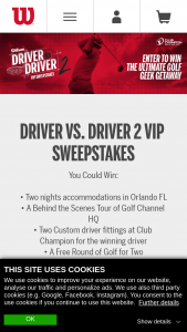 Wilson Sporting Goods – Driver Vs Driver Vip Sweepstakes