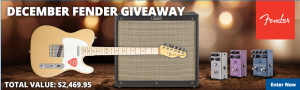 American Musical Supply – December Fender Giveaway – Win a comprehensive Fender prize package valued at $2,469