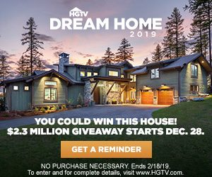 Hgtv Dream Home 2019 Win A Valued At 2 3 Mi