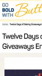 "American Butter Institute – 12 Days Of Baking Giveaways – Win cookie cutters and a spatula set (approximate retail value or ""ARV"" $25)"