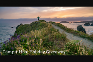 Backpackers – Camp And Hike Holiday Giveaway Sweepstakes
