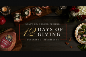 Brunckhorst – Boar's Head 12 Days Of Giving Sweepstakes