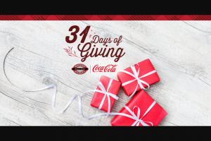 Coca-Cola – Boston Market 31 Days Of Giving – Win travel voucher terms and conditions apply
