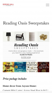 Dering Hall – Reading Oasis Sweepstakes